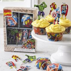 Marvel ™ Heroes Cupcake Decorating Kit #WilliamsSonoma