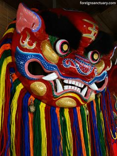Lion Mask taken during Chinese New Year – [Photographing 2015] The Eighth Week (For more awesome photos, click http://foreignsanctuary.com/2015/03/16/chinese-new-year-photographing-2015-the-eighth-week/ )