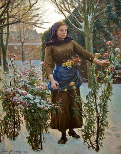 The last Flowers, 1890, Jules Breton (1827 - 1906)