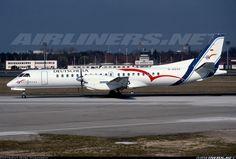 Saab 2000, Deutsche BA, D-ADSC, cn 016, first flight 24.3.1995, Deutsche BA delivered 12.5.1995. Foto: Berlin, Germany, 11.3.1997.