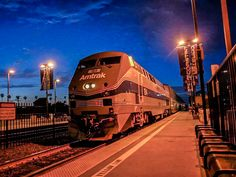 Amtrak Phase IV heritage unit stops in Oceanside | by harboryardproductions4