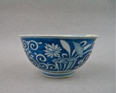LATE MING DYNASTY 17TH CENTURY B/W BOWL. FOUNDED FROM SOUTH-SULAWESI INDONESIA.