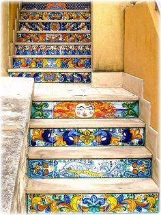 amazing tiled steps