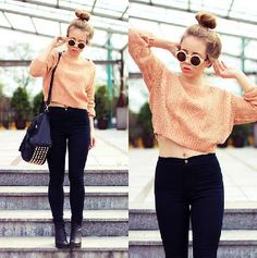 Cable Knit Cropped Sweater - Knit Tops - Pullover - Knitwear - Tops - Clothing