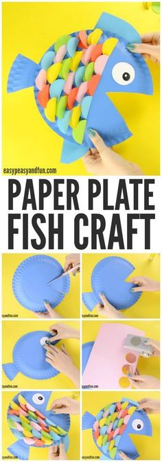 Colorful and fun paper plate fish craft! A great activity for an ocean unit!