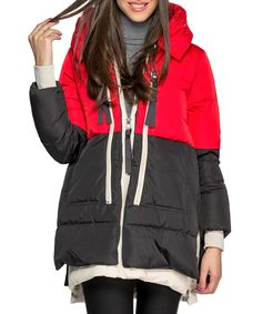 Red & black down jacket Sale - Joins