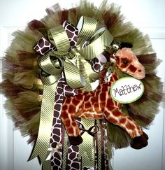 Jungle Themed New Baby Wreath.