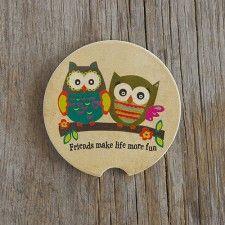 Owl Friends Car Coaster