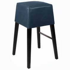 Elmo Bonded Leather Counter Stool In Pumpkin 21 X 14 5 X