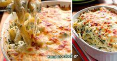 Πέννες στο Φούρνο με Σπανάκι Baby και Τυρί Τσένταρ | womanoclock.gr Penne, Pasta, Cheddar, Quiche, Macaroni And Cheese, Cauliflower, Vegetables, Breakfast, Ethnic Recipes
