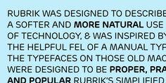 Rubrik - Webfont & Desktop font « MyFonts  #tipografia