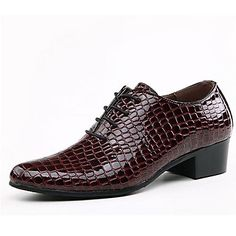 Leather Men's Low Heel Comfort Oxfords With Lace-up Shoes (More Colors) - USD $ 34.99