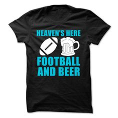 Football And Beer Heaven T-Shirts, Hoodies. SHOPPING NOW ==► https://www.sunfrog.com/Sports/Football-And-Beer-Heaven-Shirt.html?id=41382