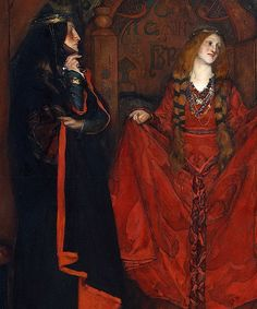 Edwin Austin Abbey - King Lear, Act I, Scene I [1898]