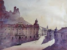 akvarel Watercolor Paintings, Art, Idea Paint, Art Background, Water Colors, Kunst, Performing Arts, Watercolour Paintings, Art Education Resources