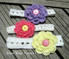 Knot Your Nana's Crochet: Easy Puff Stitch Headband