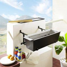 Barbecue de balcon, très astucieux et petit ! #utile