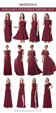83d47b246737 2019 fall bridesmaid dress burgundy chiffon dress halter short bridesmaid  dress cup cap dress with lace