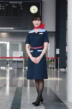 【日本】アイベックスエアラインズ客室乗務員/IBEX Airlines Cabin crew【Japan】 Airline Cabin Crew, Japan, Style, Swag, Japanese, Outfits
