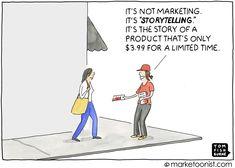 marketing storytelling cartoon