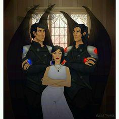 Azriel, Amren, Cassian