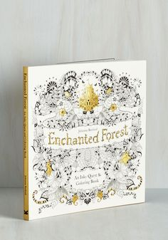 The Art of Fleur Coloring Book. Awaken from a spellbound slumber in the grove of Johanna Basfords enchanted forest when you flip through this picturesque inky quest and coloring book by Chronicle Books. #multi #modcloth