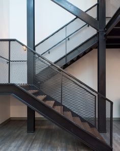 Gallery of Chapter Living Kings Cross / Tigg + Coll Architects - 18 - Chapter Living Kings Cross,© Andy Matthews Interior Stair Railing, Staircase Railings, Railing Design, Staircase Design, Industrial Stairs, Industrial House, Garde Corps Metal, Les Gobelins, Steel Stairs