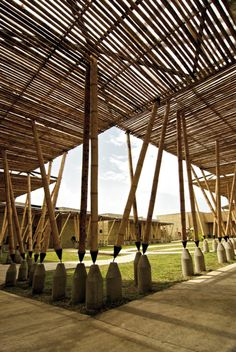 20 Examples of Bamboo Buildings- The 'Green Steel' of the 21st Century   http://www.designrulz.com/design/2015/01/bamboo-buildings-green-steel-21st-century/