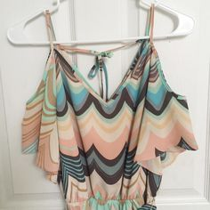 Lauren Conrad off the shoulder dress 100% polyester spaghetti strap off-the-shoulder dress in great condition. (Measured from the top of the strap) the length is about 36 inches. LC Lauren Conrad Dresses