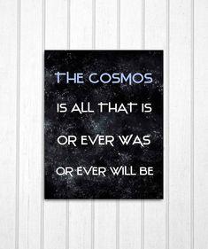 Cosmos Carl Sagan Quote 8x10 Print
