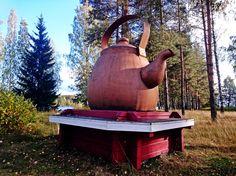 Työmatkalla on hyvä pysähtyä rehdille pannukahville. Kangasniemi, Syyskuu 2015