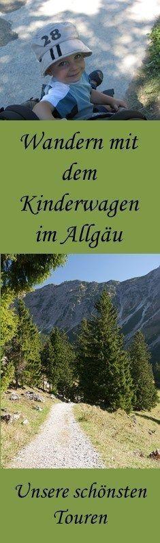 Wandern mit dem Kinderwagen im Allgäu - unsere schönsten Touren - Pin