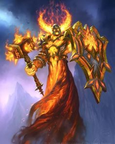 """#Art by James Ryman """"What happens when you try and corrupt a corrupted firelord? DOUBLE NEGATIVE INSECT!"""" - Ragnaros Lightlord #Hearthstone"""
