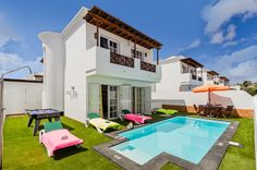 Take A Look At Villa Geria In Puerto del Carmen, Lanzarote Puerto Del Carmen, Villa With Private Pool, Heated Pool, Mansions, House Styles, Beautiful, Home Decor, Lanzarote, Decoration Home