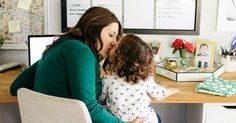 Read about the real life of a work at home mom. Perks & challenges of separating work from home life via PopSugar Moms