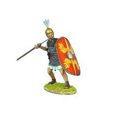 First Legion: ROM064 Caesarian Roman Legionary Preparing to Throw Pilum #FirstLegion