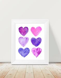 Hey, I found this really awesome Etsy listing at https://www.etsy.com/listing/213900698/purple-and-pink-art-11x14-watercolor