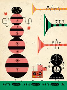Let's Dance by illustrator Eric Comstock