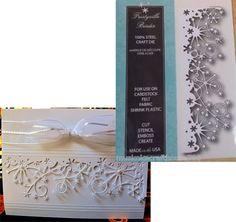 Christmas Snowflake die - FROSTYVILLE BORDER - MEMORY BOX dies - 98146 Holidays #MemoryBox