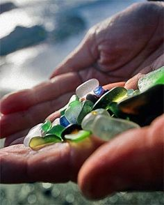 Go play at the old dump in Fort Bragg, better known as Glass Beach - LA Times