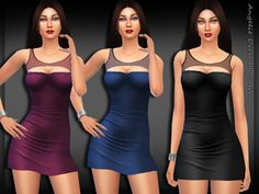 The Sims Resource: Angelie Dress by Saliwa • Sims 4 Downloads