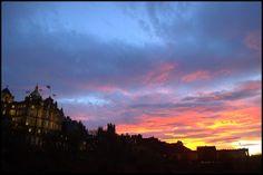Atardecer. Sunset in Edinburg