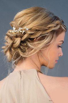 flechtfrisuren frisuren flechtfrisuren braids b Easy Formal Hairstyles, Best Wedding Hairstyles, Up Hairstyles, Braided Hairstyles, Braided Updo, Hairstyle Ideas, Chignon Hairstyle, Twisted Updo, Bridal Hairstyle