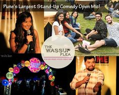 Pune's Largest Stand Up Comedy Open Mic at #TheWassupFlea Venue: Vrindawan Lawns, Opp. Maruti Nexa, Baner Road, Pune. Dates: 15-16 October 2016 Time: 11 AM to 10 PM #Event #Fashion #Food #Dance #Clothing #Accessories #Fun #CityShorPune
