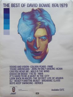 Original David Bowie Promotional Poster for the by VintageLines