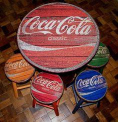 Coca Cola Classic, Coca Cola Vintage, Pepsi, Coke, Hand Painted Chairs, Painted Furniture, Coca Cola Addiction, Coca Cola Poster, Coca Cola Decor