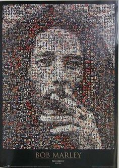 Bob Marley Mosaic | Music | Hardboards | Wall Decor | Plaquemount | Blockmount | Art | Pictures Frames and More | Winnipeg | MB | Canada