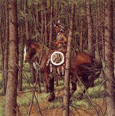 cowboy indien - Page 17 Native American Poems, Native American Artists, American Indians, Indian Paintings, Cool Paintings, Bev Doolittle Prints, Art Optical, Optical Illusions, West Art