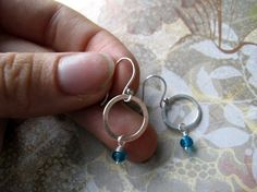 Droplet  earrings by junedesigns on Etsy, $20.00