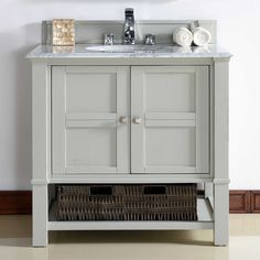 James Martin Furniture Madison 36-Inch Single Vanity Collection in Dove Grey